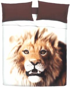 Set lenzuola bassetti by gardone per letto singolo fondo bianco leone - Leone e capricorno a letto ...