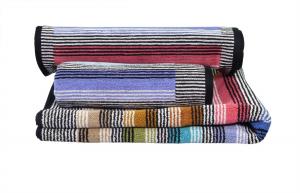 Missoni Home Asciugamani Ross set 1+1 righe multicolori