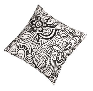Fodera per Cuscino Fine serie 45x45 cm Missoni Home 12 floreale bianco e nero