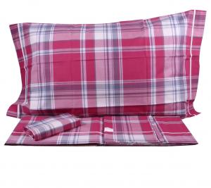 Parure lenzuola Bossi San Babila 7113 sui toni del rosso per letto matrimoniale