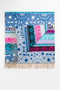 Desigual morbida coperta Denim 150x170 cm in acrilico sui toni del blu