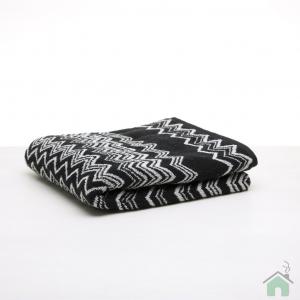 Set Asciugamani Missoni 1 asciugamano + 1 ospite KEITH bianco nero zigzag