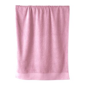 Telo bagno in spugna di puro cotone 450 grammi Rosa 100x150