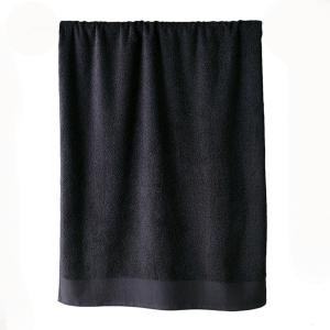 Telo bagno in spugna di puro cotone 450 grammi Nero 100x150