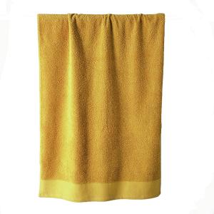 Telo bagno in spugna di puro cotone 450 grammi Giallo narciso 100x150