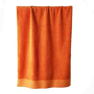 Telo bagno in spugna di puro cotone 450 grammi Arancio melone 100x150