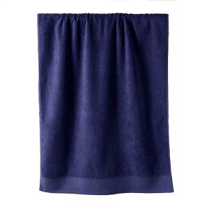 Telo bagno in spugna di puro cotone 450 grammi Blu notte 100x150