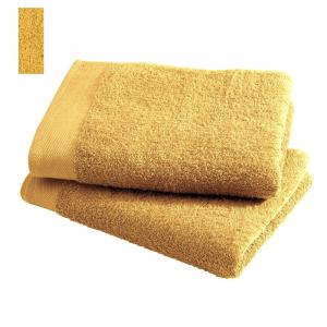 Asciugamano in spugna di puro cotone 450 grammi Giallo Narciso 60x100