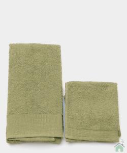 Asciugamani Happidea set 1+1 viso e mani, bagno piscina arredo olio