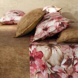 Set lenzuola matrimoniale Gabel in raso di cotone 120 fili SELMA Rubino