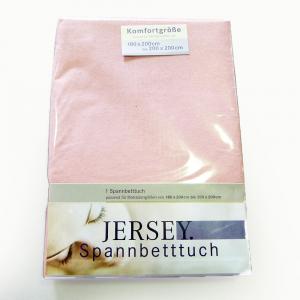 Lenzuola con angoli in maglina di cotone estensibile jersey fino a 200 x 200  rosa chiaro 174
