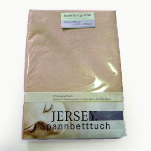 Lenzuola con angoli in maglina di cotone estensibile jersey fino a 200 x 200 biscotto