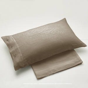 Set lenzuola puro lino Bellora per letto matrimoniale BASIL corda