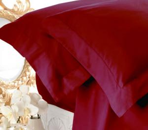 Set lenzuola matrimoniale AURORA in raso di puro cotone a giorno bordo'