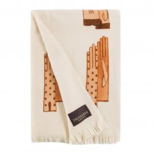 PLAID TRUSSARDI GLOVES 130x180 sabbia pura lana