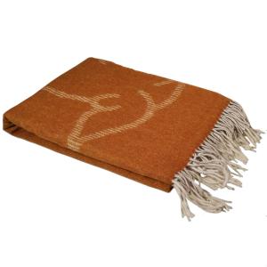 PLAID TRUSSARDI MAISON 130x180 color cuoio 100% pura lana