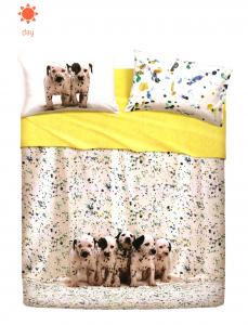 Set lenzuola Bassetti FUNNY DOGS per letto singolo 2016