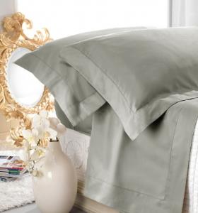 Set lenzuola matrimoniale AURORA in raso di cotone ASFALTO