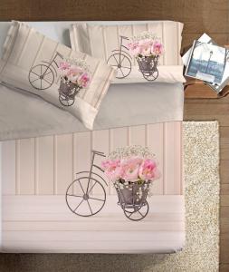 Set lenzuola Stampa digitale 3d ROSE IN BICI matrimoniale alta definizione