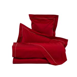 LA PERLA Lenzuola CLEOPATRA Raso di puro cotone unito con cordonetto rosso 6