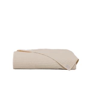 LA PERLA Copriletto CLEOPATRA Raso di puro cotone unito ricamato perla