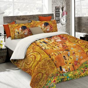 Set lenzuola per letto matrimoniale  Bacio di Klimt stampa fotografica