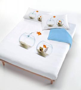Set copripiumino letto piazza e mezza Pesce Rosso Wanda stampa 3d