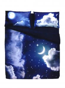 Set Copripiumino letto singolo notte stellata - sweet moon Bassetti 155x200