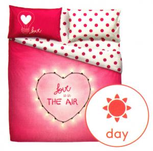 Set Copripiumino letto singolo Love is in the air - amore pois Bassetti 155x200