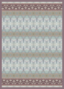 Bassetti Plaid Granfoulard matrimoniale 240x250 cm TAFFETA' var 2 azzurro