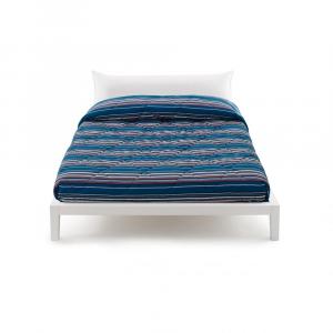 Trapunta Zucchi invernale letto singolo una piazza SHUFFLE righe azzurre