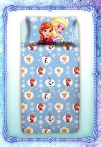Parure lenzuola letto singolo 1 piazza Disney FROZEN puro cotone STOCK