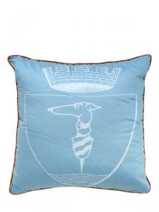 Cuscino decorativo Trussardi Logo 40x40 in raso di puro cotone