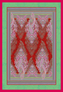Bassetti Plaid Granfoulard 135x190 cm ELBA var.1 rosso Idea regalo originale