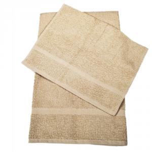 Set 1+1 asciugamano e ospite in spugna Borbonese PRECIOUS var. sabbia
