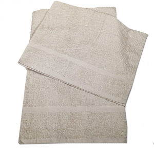 Set 1+1 asciugamano e ospite in spugna Borbonese PRECIOUS var. ostrica