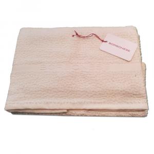 Set 1+1 asciugamano viso e ospite in spugna Borbonese PRECIOUS var. avorio