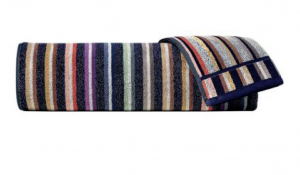 Set asciugamani Missoni Home 1  Telo + 2 asciugamani + 2 ospiti TESEO righe multicolor