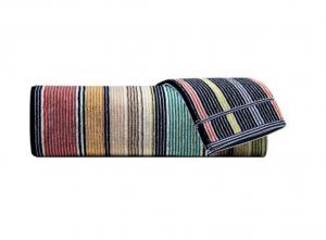 Set Asciugamani Missoni 1 asciugamano + 1 ospite TOMMASO 100 multicolore striped