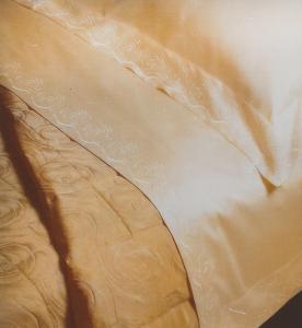 Copriletto trapuntato matrimoniale TRUSSARDI FLOR jacquard beige