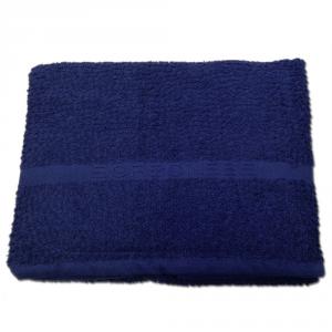 Set 1+1 asciugamano viso e ospite in spugna Borbonese PRECIOUS var. blu golfo