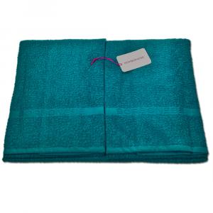 Set 1+1 asciugamano viso e ospite in spugna Borbonese PRECIOUS var. ottanio