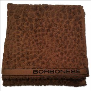 Set 1+1 asciugamano viso e ospite in spugna Borbonese EVENTO var. marrone