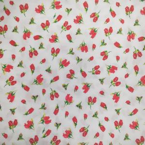 Coppia di federe in fantasia per parure lenzuola matrimoniali maxi fuori misura ISTAR - floreale rosso