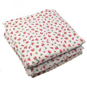 Sotto lenzuolo con angoli matrimoniali MAXI fuori misura 200 x 215 in fantasia ISTAR - floreale rosso