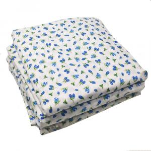 Sotto lenzuolo con angoli matrimoniali MAXI fuori misura 200 x 215 in fantasia ISTAR - floreale blu