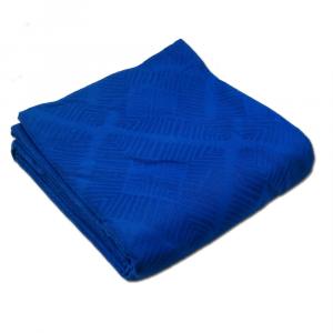 FAZZINI copriletto piquet di cotone ROMBI matrimoniale blu