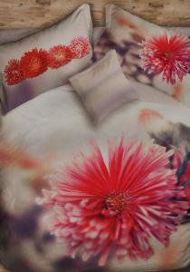 Set copripiumino per letto matrimoniale Flower Power fiore rosso natura