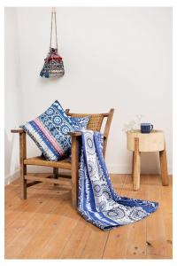 Desigual Foulard telo arredo copritutto Exotic Jeans 180x270 cm blu