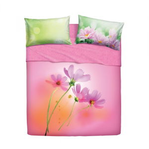 Set lenzuola letto singolo 1 piazza BASSETTI PINK SPRING rosa